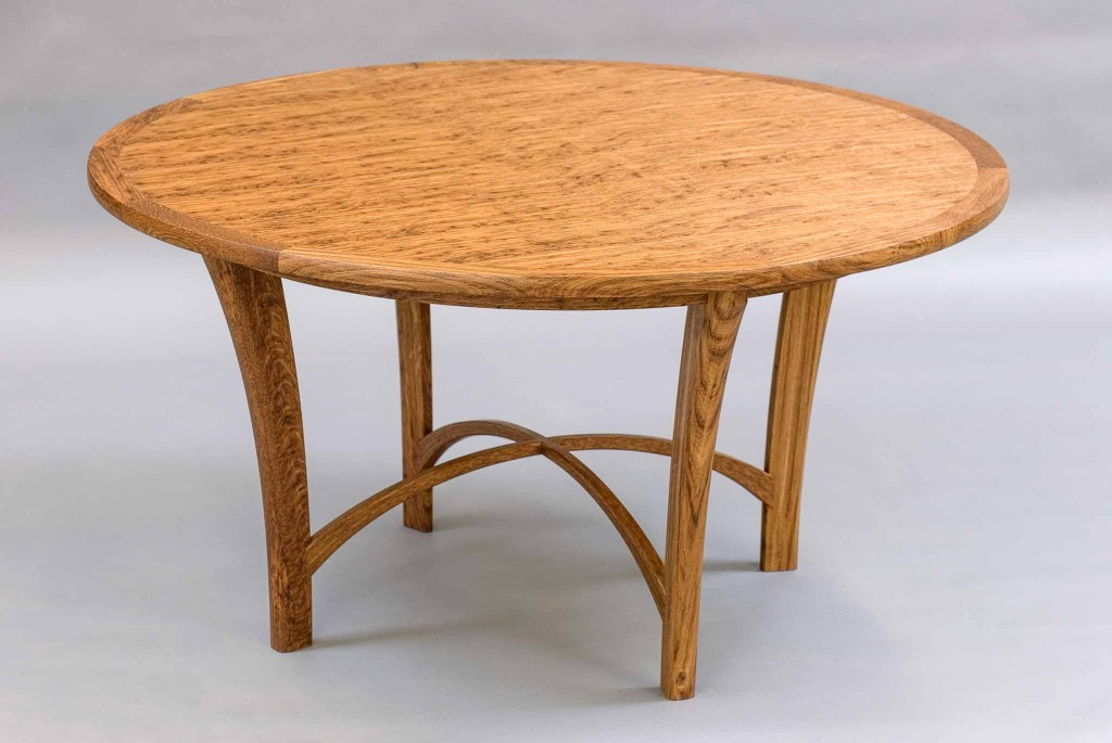 veneered circular table