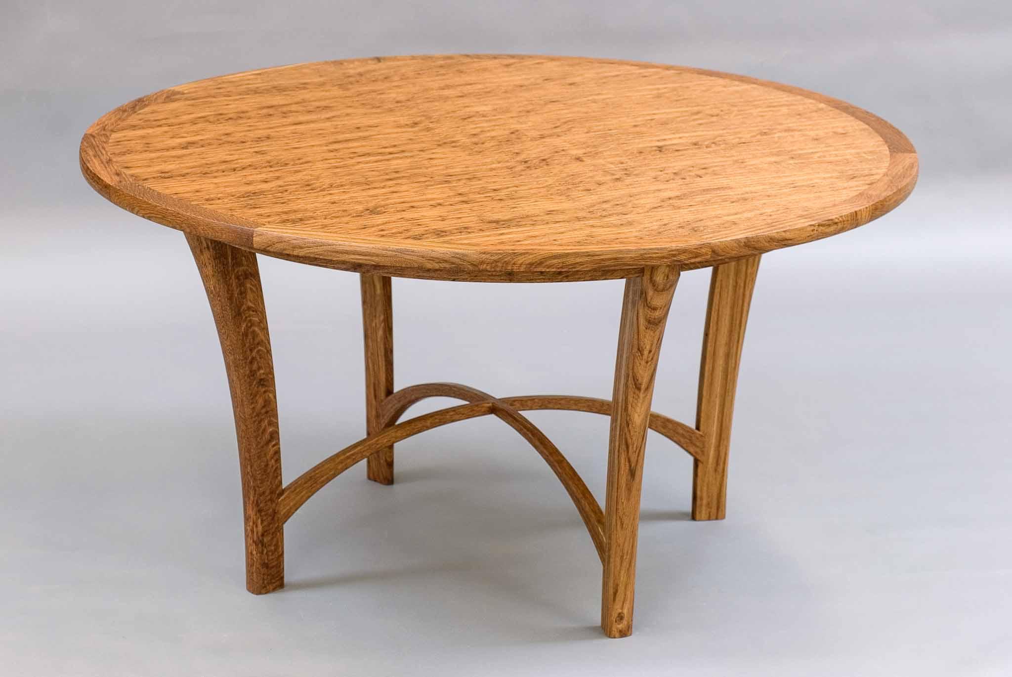 veneered circular table