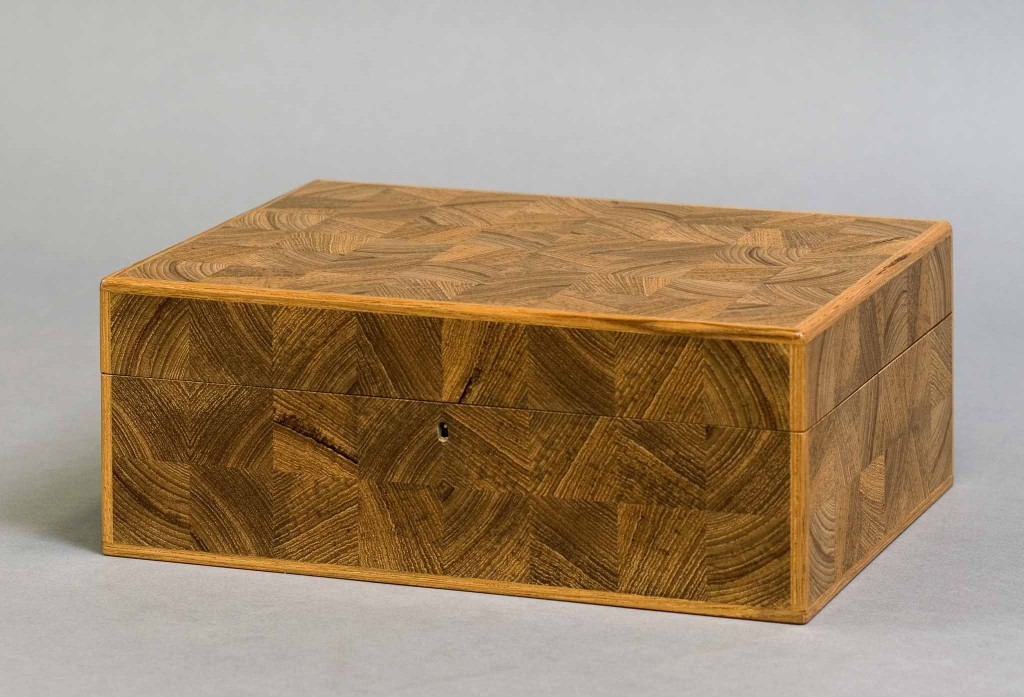 box in end-grain parquetry