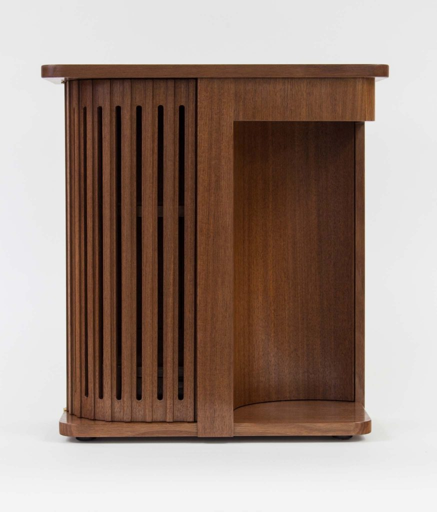 Walnut coopered table cab