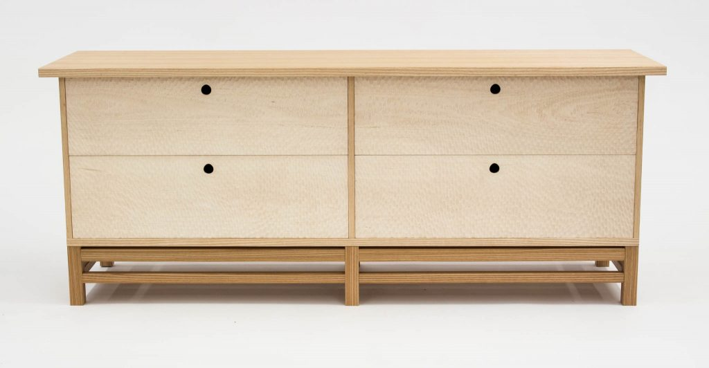 ash lowboy dresser