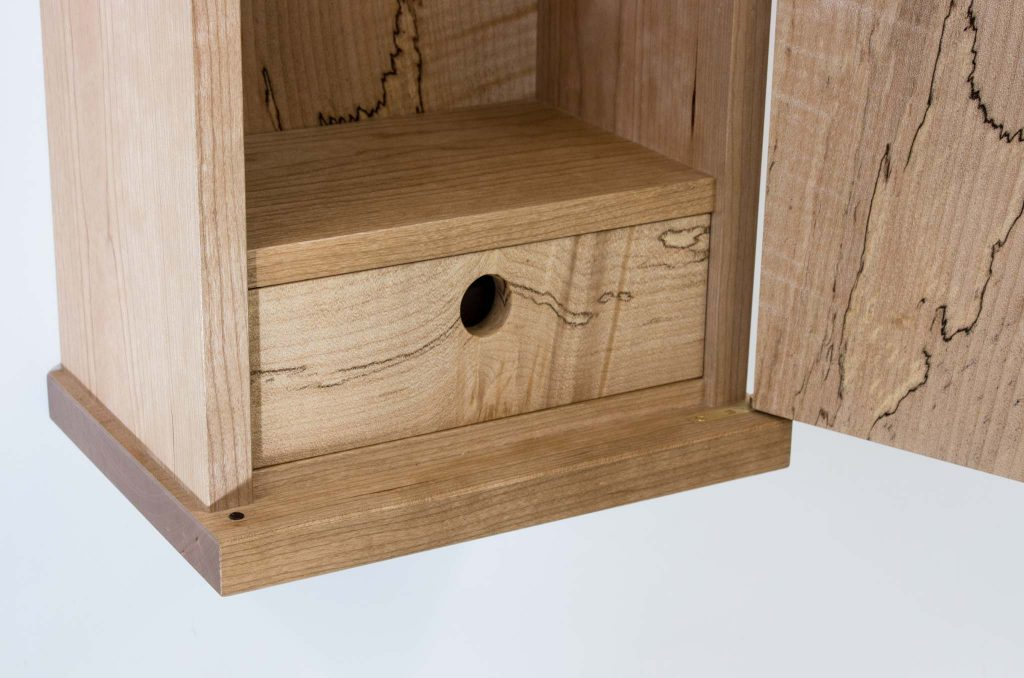 spalted maple wall cabinet