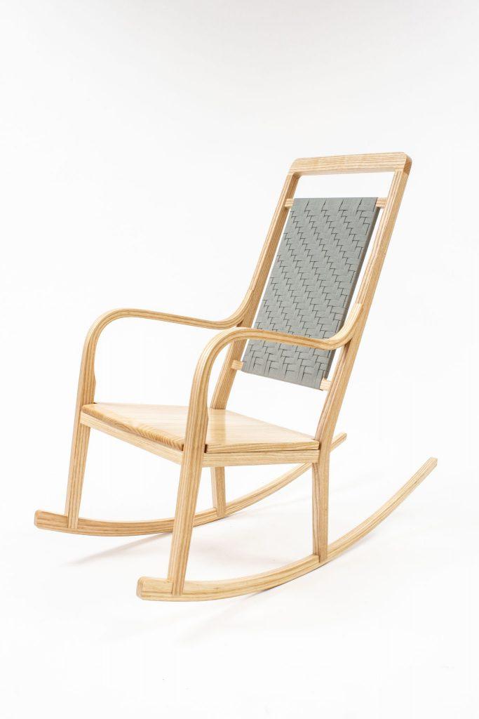 Wong ash rocking chair