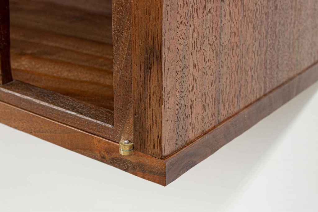 warah walnut book cabinet